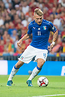 Italy's Ciro Immobile during match between Spain and Italy to clasification to World Cup 2018 at Santiago Bernabeu Stadium in Madrid, Spain September 02, 2017. (ALTERPHOTOS/Borja B.Hojas)