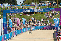 Catharine Pendrel  , Canada , Winning London Prepares Mountain Bike Olympic Test Event , Hadleigh Farm , Essex , July 2011 pic copyright Steve Behr / Stockfile