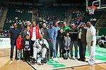 DENTON, TX - FEBRUARY 15: North Texas Mean Green Men's Basketball v Old Dominion Monarchs at Super Pit - North Texas Coliseum on February 15, 2020 in Denton, Texas.
