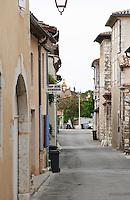 town street cornas rhone france