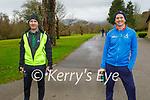 Enjoying a stroll in the Killarney National park on Saturday, l to r: Mark Fleury and John Curran