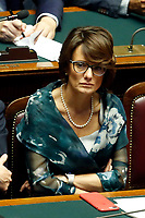 Minister for equal opportunities Elena Bonetti<br /> Rome September 9th 2019. Lower Chamber. Programmatic speech of the new appointed Italian Premier at the Chamber of Deputies to explain the program of the yellow-red executive. After his speech the Chamber is called to the trust vote at the new Government. <br /> Foto  Samantha Zucchi Insidefoto
