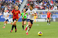 HARRISON, NJ - MARCH 08: Carli Lloyd #10 of the United States during a game between Spain and USWNT at Red Bull Arena on March 08, 2020 in Harrison, New Jersey.