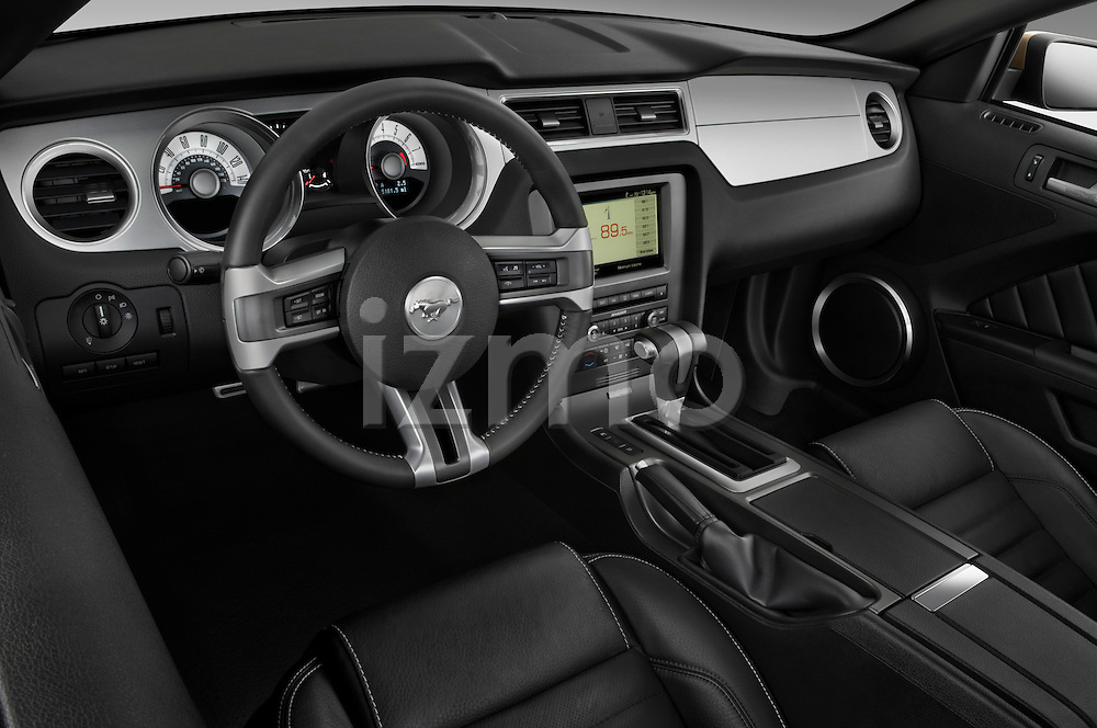 High angle dashboard view of a 2010 Ford Mustang Coupe GT Premium
