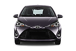 Car photography straight front view of a 2017 Toyota Yaris Y-conic 5 Door Hatchback