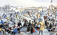 New York:  Central Park, winter, the skating pond.  Currier & Ives, 1862.