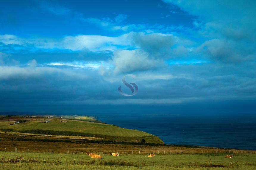 The North Coast 500 and the Caithness Coastline near Dunbeath, Caithness