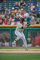 Francisco Mejia (12) of the El Paso Chihuahuas bats against the Salt Lake Bees at Smith's Ballpark on August 13, 2018 in Salt Lake City, Utah. Salt Lake defeated El Paso 4-3. (Stephen Smith/Four Seam Images)