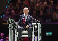 Februari 15, 2015, Netherlands, Rotterdam, Ahoy, ABN AMRO World Tennis Tournament, Final : chair umpire Gerry Armstrong<br /> Photo: Tennisimages/Henk Koster