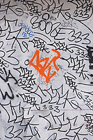 Detail of Graffiiti on a Wall on New York City's Lower East Side