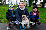 Taking Hunter the dog for a walk in the Tralee town park on Saturday, l to r: Keelan, Mary and Freya Dennehy.