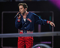 FLUSHING NY- AUGUST 26: Ben Platt performs during opening night ceremonies on Arthur Ashe Stadium at the USTA Billie Jean King National Tennis Center on August 26, 2019 in Flushing Queens. Credit: MPI04 / MediaPunch