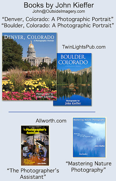 Four books by John Kieffer.<br /> from Allworth Press and Twin Lights Publishing.