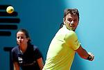 Stan Wawrinka, Switzerland, during Madrid Open Tennis 2016 match.May, 4, 2016.(ALTERPHOTOS/Acero)