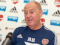 Hearts' assistant manager Billy Brown at today's press conference.