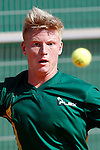 South Africa's Joshua Howard-Tripp during Junior Davis Cup 2015 match. September  30, 2015.(ALTERPHOTOS/Acero)