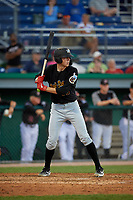 West Virginia Black Bears Will Matthiessen (59) at bat during a NY-Penn League game against the Batavia Muckdogs on June 27, 2019 at Dwyer Stadium in Batavia, New York.  West Virginia defeated Batavia 6-5 in ten innings.  (Mike Janes/Four Seam Images)