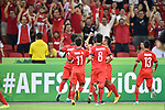 Myanmar vs Singapore during the 2014 AFF Suzuki Cup Group B match on November 26, 2014 at the Singapore National Stadium in Singapore. Photo by Stringer / World Sport Group