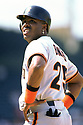 CHICAGO - CIRCA 1995:  Barry Bonds #25 of the San Francisco Giants looks on during an MLB game at Wrigley Field in Chicago, Illinois. Bonds played for 22 seasons with 2 different teams, was a 14-time All-Star and was a 7-time National League MVP. (David Durochik / SportPics) --Barry Bonds
