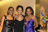 """Actress Sally Stewart, Guiding Light Kim Brockington, Adriane Lenox - Tony Winner 2007 for """"Doubt"""" at The Innaugural Celebration of Color on Broadway Awards were held on June 8, 2011 at SAKS Fifth Avenue, New York City, New York. The event was held upstairs where beautiful shoes are sold and where a part of the sales this night will benefit OPUS 118 Harlem's School of Music. (Photo by Sue Coflin/Max Photos)"""