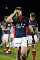 Phil Cringle of London Scottish is rueful during the Greene King IPA Championship match between London Scottish Football Club and Bedford Blues at Richmond Athletic Ground, Richmond, United Kingdom on 10 January 2020. Photo by Carlton Myrie.