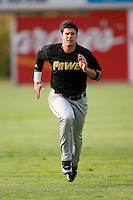 West Virginia left fielder Matt LaPorta (33) does some running in the outfield prior to taking on the Hickory Crawdads at L.P. Frans Stadium in Hickory, NC, Friday, August 24, 2007.