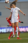 Jodie Taylor of England and Shelina Zadorsky of Canada