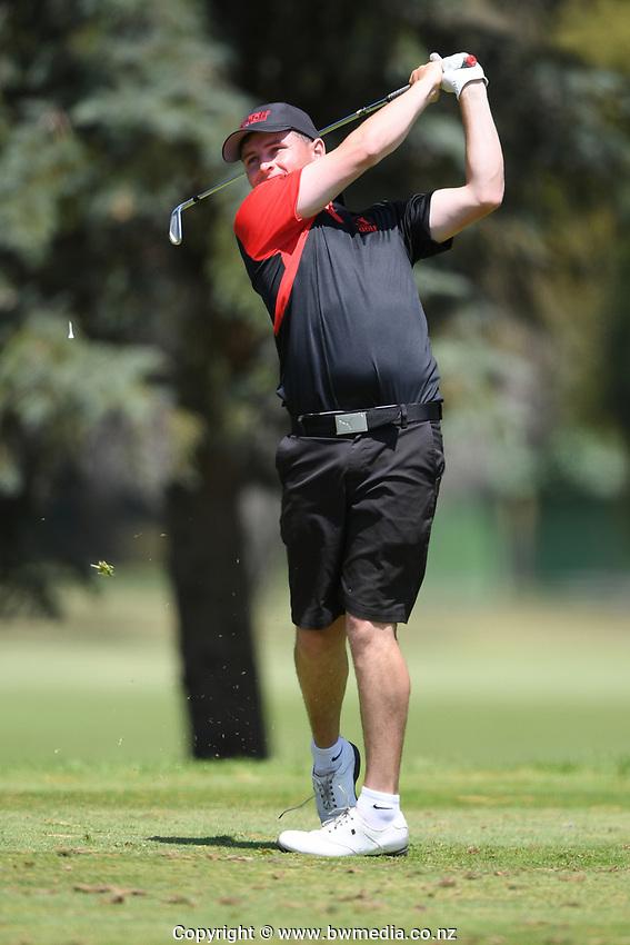 Matt McLean, Canterbury, 2019 New Zealand Men's Interprovincials, Hastings Golf Club, Hawke's Bay, New Zealand, Tuesday 26th November, 2019. Photo: Kerry Marshall/www.bwmedia.co.nz