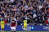 3rd October 2021;   City of London Stadium, London, England; EPL Premier League football, West Ham versus Brentford; Yoane Wissa of Brentford celebrates his goal for 1-2