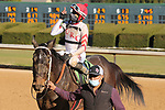 January 22, 2021: Strolling (12) with jockey Ramon Vazquez aboard after winning the fifth race at Oaklawn Racing Casino Resort in Hot Springs, Arkansas on January 22, 2021. Justin Manning/Eclipse Sportswire/CSM
