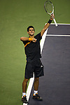 SHANGHAI, CHINA - OCTOBER 16:  Novak Djokovic of Serbia celebrates a point to Guilles Simon of France during day six of 2009 Shanghai ATP Masters 1000 at Qi Zhong Tennis Centre on October 16, 2009 in Shanghai, China.  Photo by Victor Fraile / The Power of Sport Images