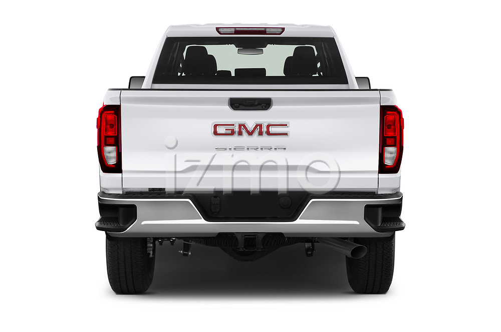 Straight rear view of 2020 GMC Sierra-3500HD - 4 Door Pick-up Rear View  stock images
