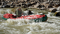 Bob Kramer paddles through a no named rapid on the San Juan River in southeast Utah. Sixteen people, including 12 canoes and a raft carrying four, paddle 83.5 miles of the San Juan River from the Sand Island Boat Ramp near Bluff, Ut., to Clay Hills Crossing UT.. Check out nwaonline.com/21____Daily/ and nwadg.com/photos for a photo gallery.<br /> (NWA Democrat-Gazette/David Gottschalk)