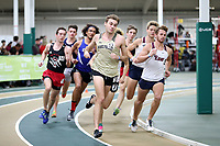 WINSTON-SALEM, NC - FEBRUARY 07: Jack Dailey #12 of Wake Forest University runs in the Men's 1 Mile Run at JDL Fast Track on February 07, 2020 in Winston-Salem, North Carolina.