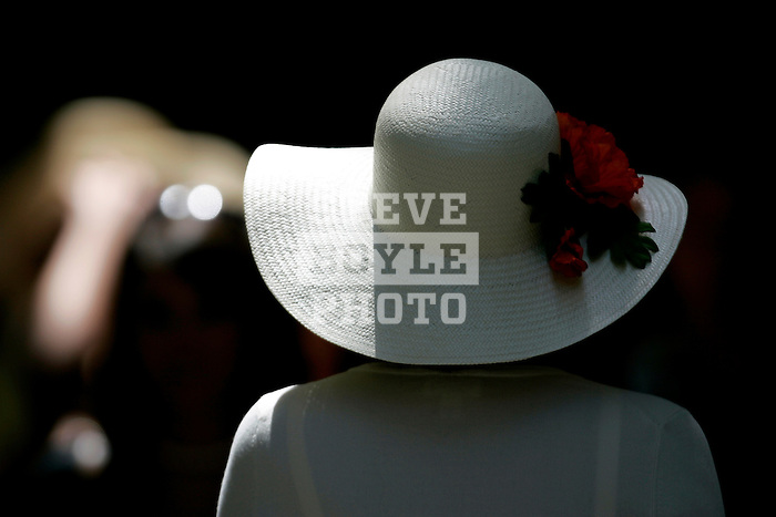 Fans adorned elegant hats at Churchill Downs on Derby Day in Louisville, Kentucky on May 6, 2006.  Barbaro, ridden by Edgar Prado, won the 132nd Kentucky Derby in the tenth race of the day........