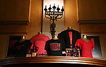 """Merchandise for """"Moulin Rouge!"""" The Broadway Musical at the Al Hirschfeld Theatre on July 9, 2019 in New York City."""