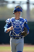 Chicago Cubs catcher Cael Brockmeyer (7) during an Instructional League game against the San Francisco Giants on October 18, 2013 at Giants Baseball Complex in Phoenix, Arizona.  (Mike Janes/Four Seam Images)