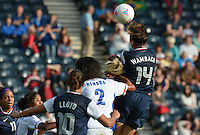 Glasgow, Scotland - July 25, 2012: Abby Wambach during the US women's national soccer team's 4-2 victory over France.