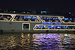 Cruising on the Chao Phraya in Bangkok in Thailand.