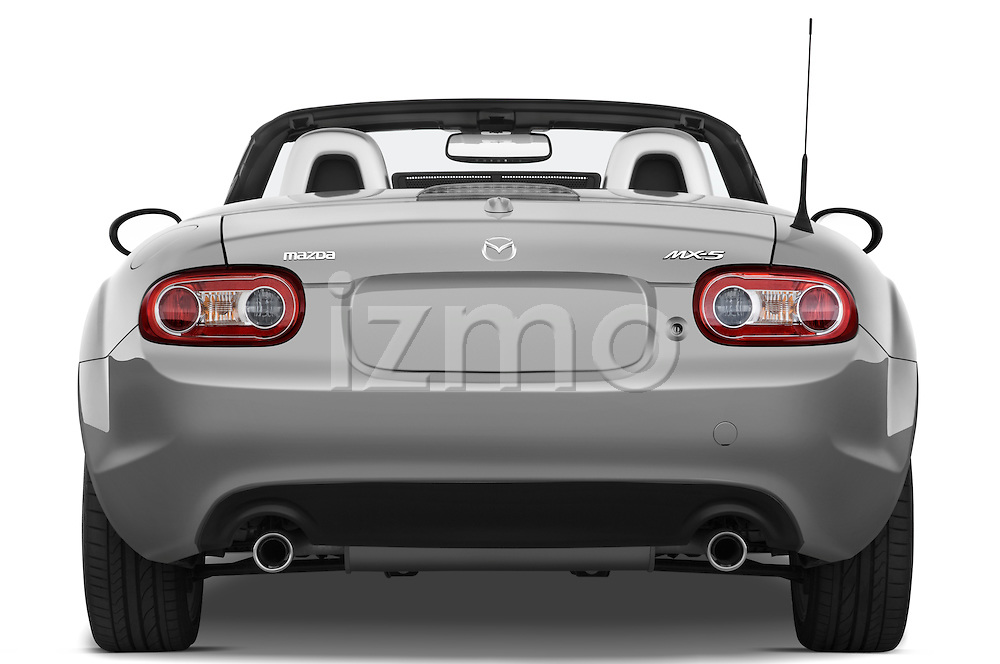 Straight rear view of a 2010 Mazda Miata MX5
