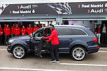 Real Madrid player Michael Essien participates and receives new Audi during the presentation of Real Madrid's new cars made by Audi at the Jarama racetrack on November 8, 2012 in Madrid, Spain.(ALTERPHOTOS/Harry S. Stamper)