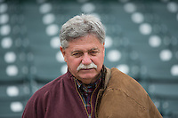 Milwaukee Brewers General Manager Doug Melvin in the stands prior to the Pacific Coast League game between the Colorado Springs Sky Sox and the Salt Lake Bees at Smith's Ballpark on May 22, 2015 in Salt Lake City, Utah.  (Stephen Smith/Four Seam Images)