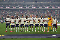 LAS VEGAS, NV - AUGUST 1: The USMNT line up before a game between Mexico and USMNT at Allegiant Stadium on August 1, 2021 in Las Vegas, Nevada.