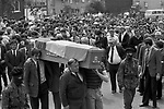 Belfast The Troubles July 1981. Funeral of Joe McDonnell the Fifth Hunger Striker to die, 1980s.
