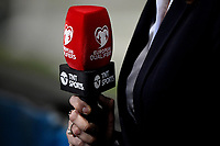 A microphone of European Qualifiers Tnt Sports is seen during the Qatar 2022 world cup qualifying football match between Italy and Lithuania at Citta del tricolore stadium in Reggio Emilia (Italy), September 8th, 2021. Photo Andrea Staccioli / Insidefoto