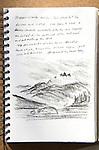 Barkley Sound, Stopper Islands, charcoal on Paper, Journal Art 2010,
