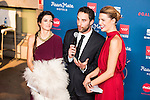 Clara Lago, Dani Rovira and Laura Sanchez attends to the photocall of the Gala Sida at Palacio de Cibeles in Madrid. November 21, 2016. (ALTERPHOTOS/Borja B.Hojas)