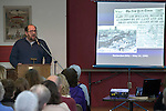February 4, 2017- Tuscola, IL- Illinois Holocaust Museum's Steve Koek, a second generation Holocaust Survivor, recounts the experiences of his father and aunts and describes his father's legacy as a survivor, father, and grandfather to a large crowd at the Douglas County Museum. [Photo: Douglas Cottle]