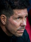 Coach Diego Simeone of Atletico de Madrid looks on prior to the La Liga 2018-19 match between Atletico de Madrid and Rayo Vallecano at Wanda Metropolitano on August 25 2018 in Madrid, Spain. Photo by Diego Souto / Power Sport Images