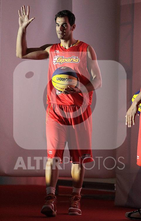 Spain's basket national team Jose Manuel Calderon during presentation for world championships. July 21, 2010. (ALTERPHOTOS/Alvaro Hernandez)